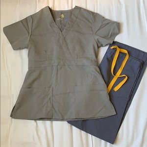 Tops - Grey scrub top